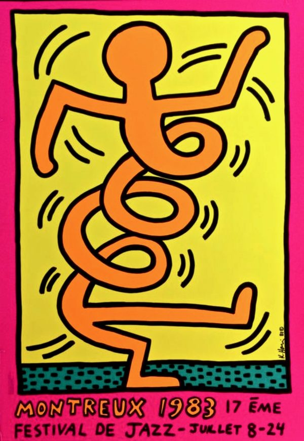 Keith Haring - Montreux Jazz Festival (Pink)