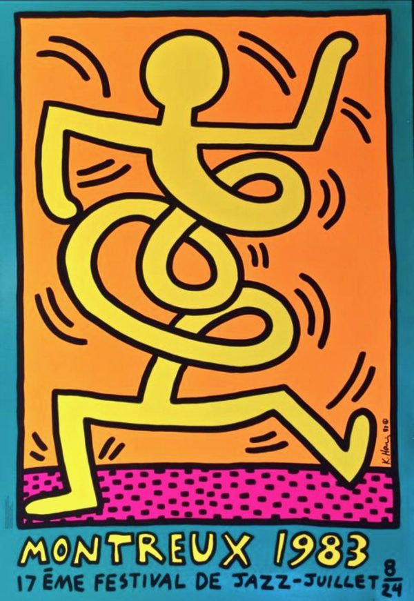 Keith Haring - Montreux Jazz Festival (Yellow)