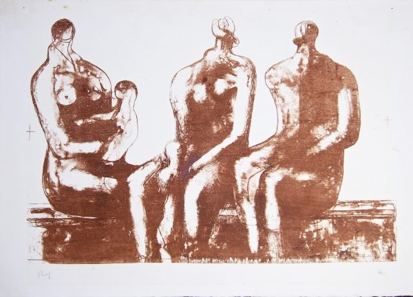 Henry Moore - Three Seated Figures With Children