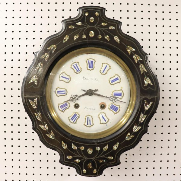 French Wall Clock, 19th C.