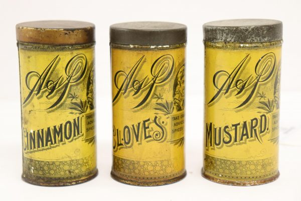 3 Sultana Tole Spice Cannisters