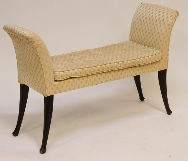 Window Bench, floral upholstery
