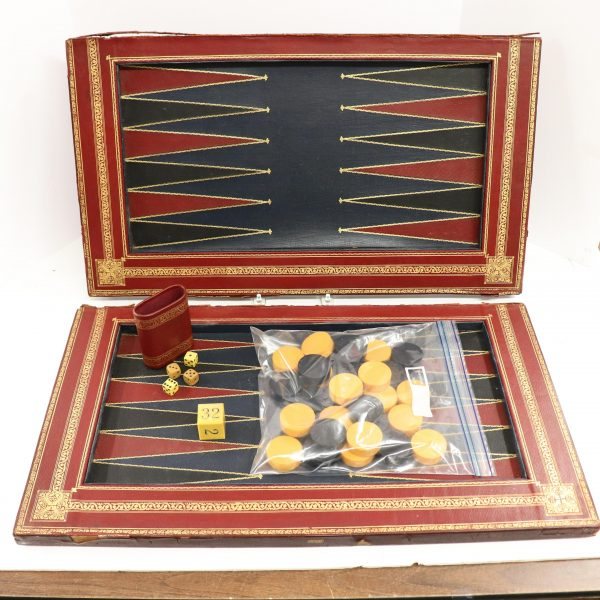 Backgammon Game in Leather Case