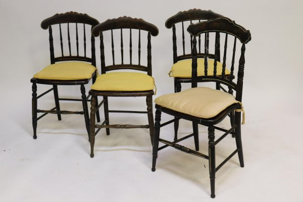 Near Set 4 Victorian Painted Fancy Chairs, 19th C.