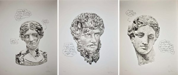 Daniel Arsham - Eroded Classical Prints