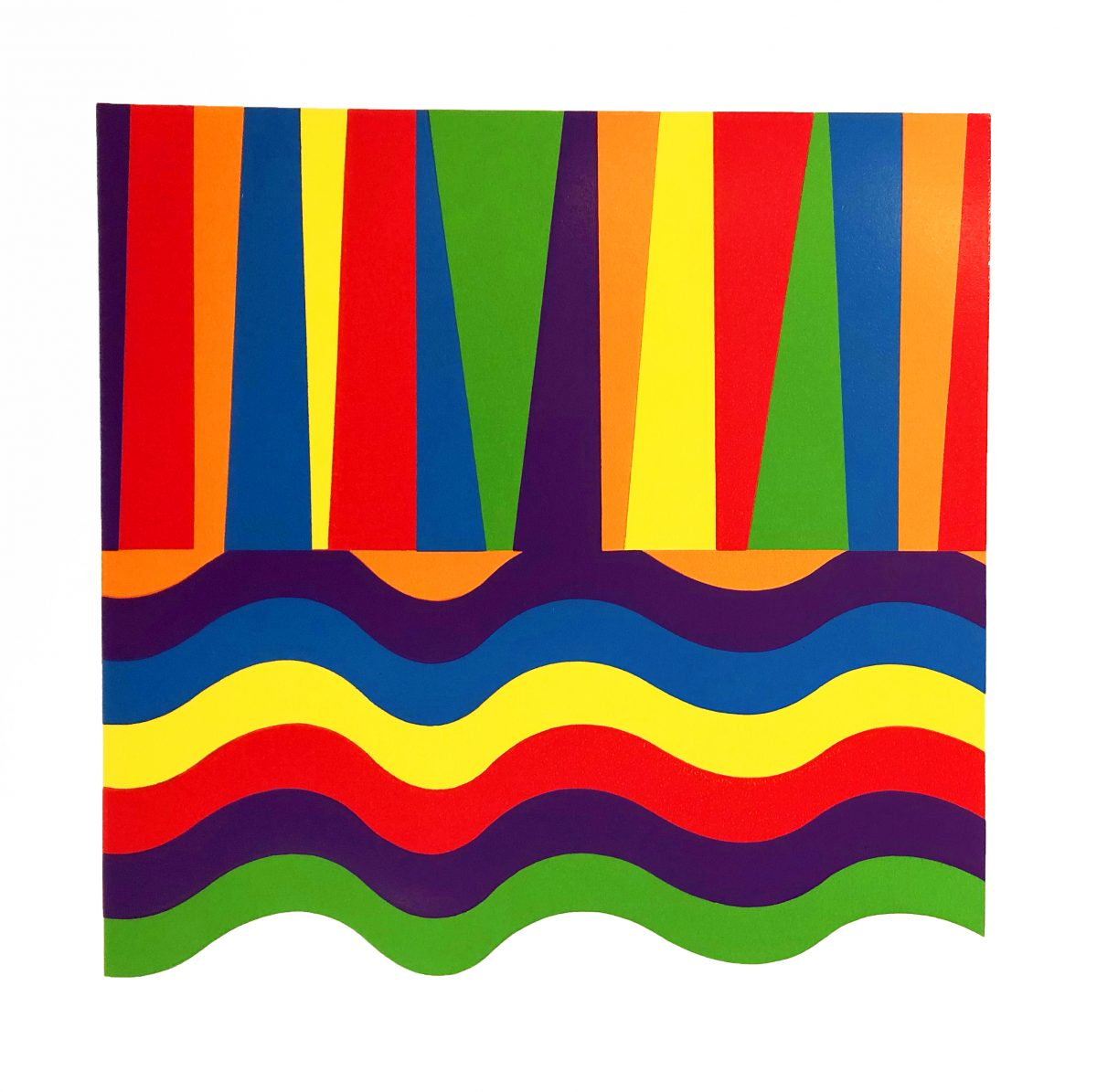 Sol Lewitt - Arcs and Bands in Color C