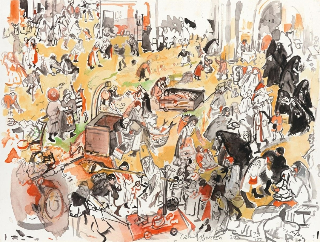 Cecily Brown - The Battle Between Carnival and Lent (after Bruegel)