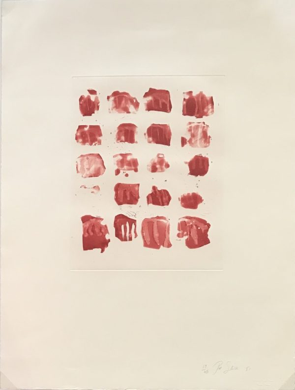 Pat Steir - Little red shapes