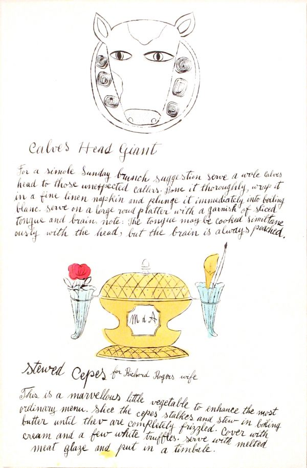 Andy Warhol - Calves Head Giant & Stewed Cepes
