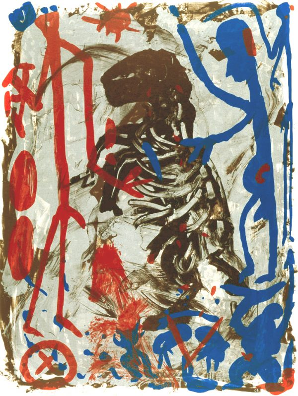 """A.R. Penck - Untitled (from the portfolio """"Lettre International"""")"""