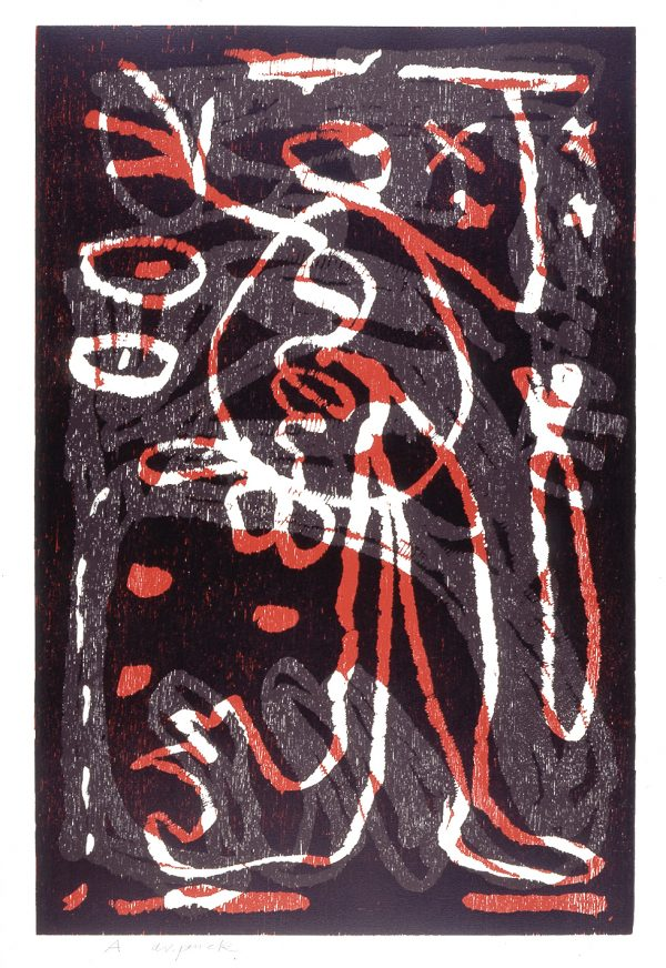 """A.R. Penck - Untitled (from the portfolio """"The Frozen Leopard"""" I)"""