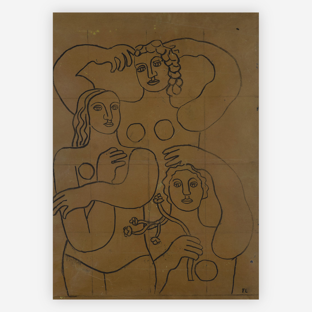 Study for Composition with Three Figures