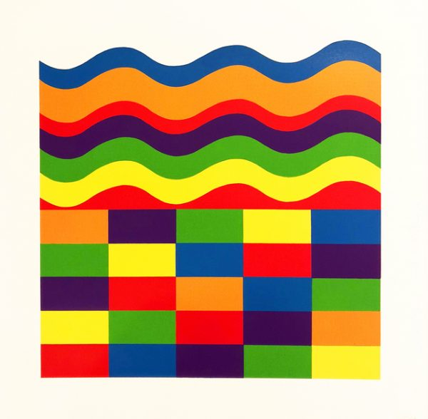 Sol Lewitt - Arcs and Band in Color A