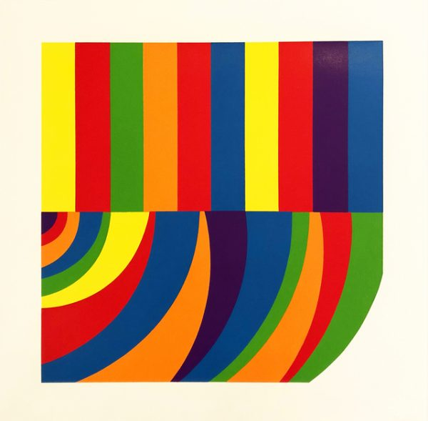 Sol Lewitt - Arcs and Band in Color F