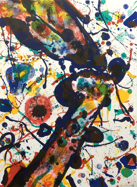 Sam Francis - Untitled, from Michel Waldberg: Poèmes dans le Ciel / Lembark 269