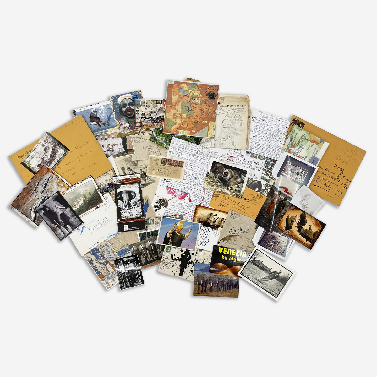 Peter Beard Drawings Accompanied by Correspondence and Effects